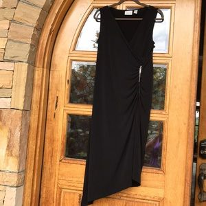 Chico's Sleeveless Black Asymmetrical Dress.